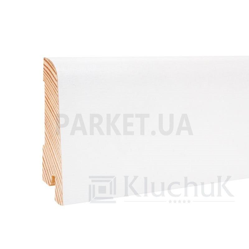Плинтус шпонированный WHITE PLINTH Евро 2200Х60Х19