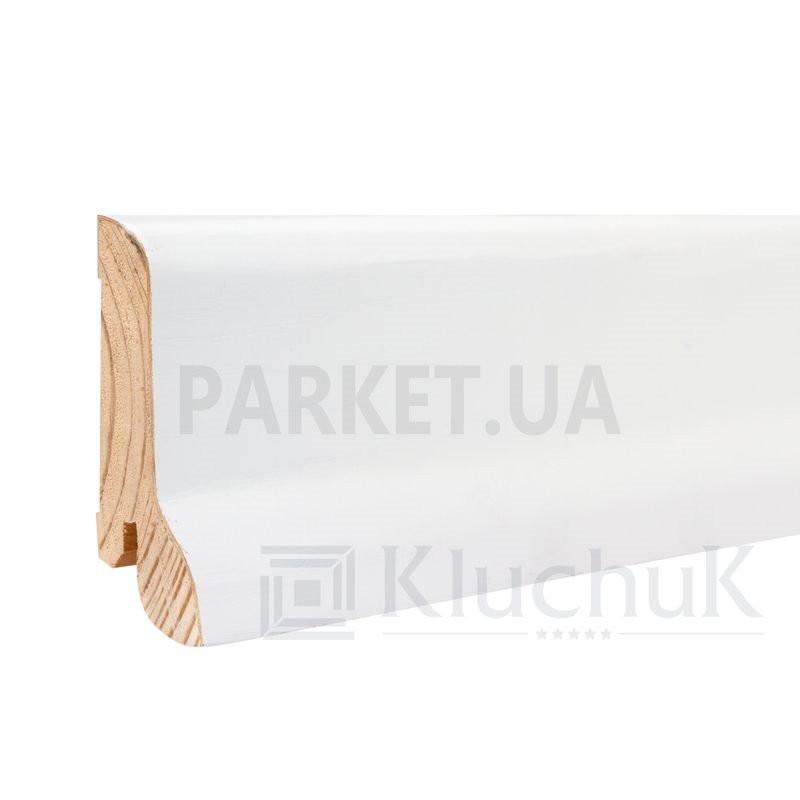 Плинтус шпонированный WHITE PLINTH классика 2200Х60Х21