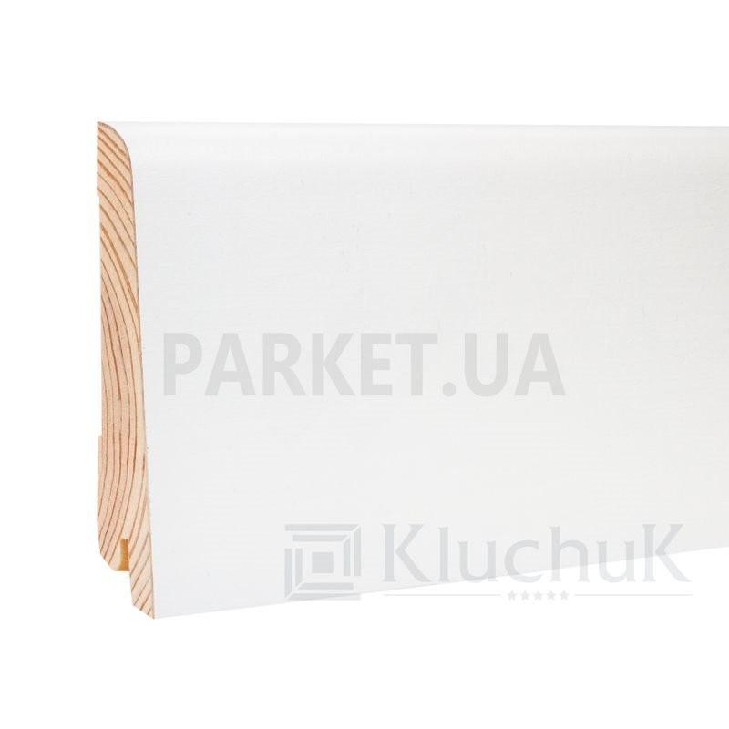 Плинтус шпонированный WHITE PLINTH Евро 2200Х0Х19