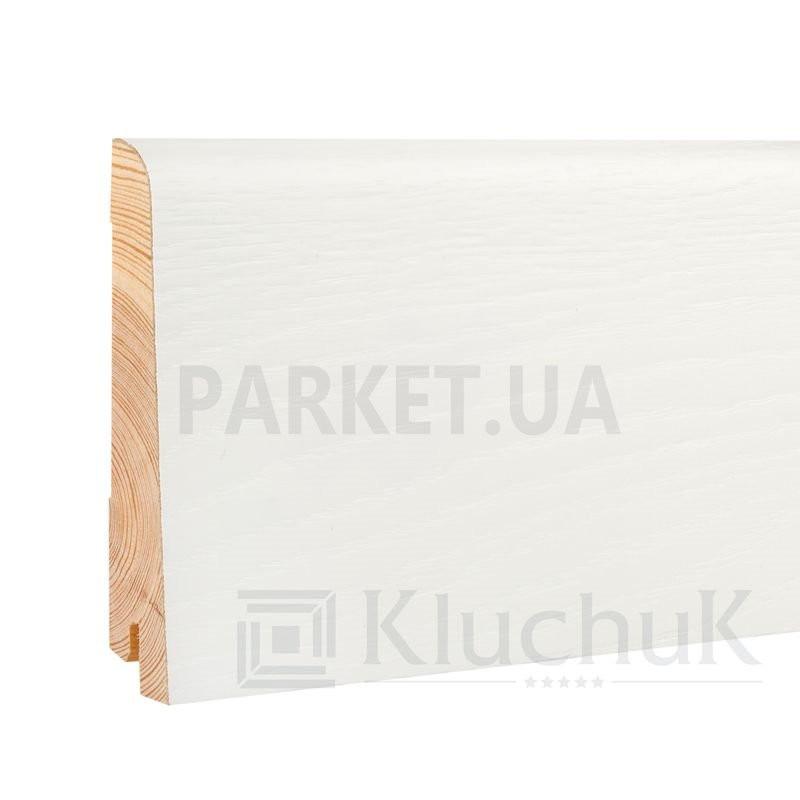 Плинтус шпонированный WHITE PLINTH Евро 2200Х100Х19