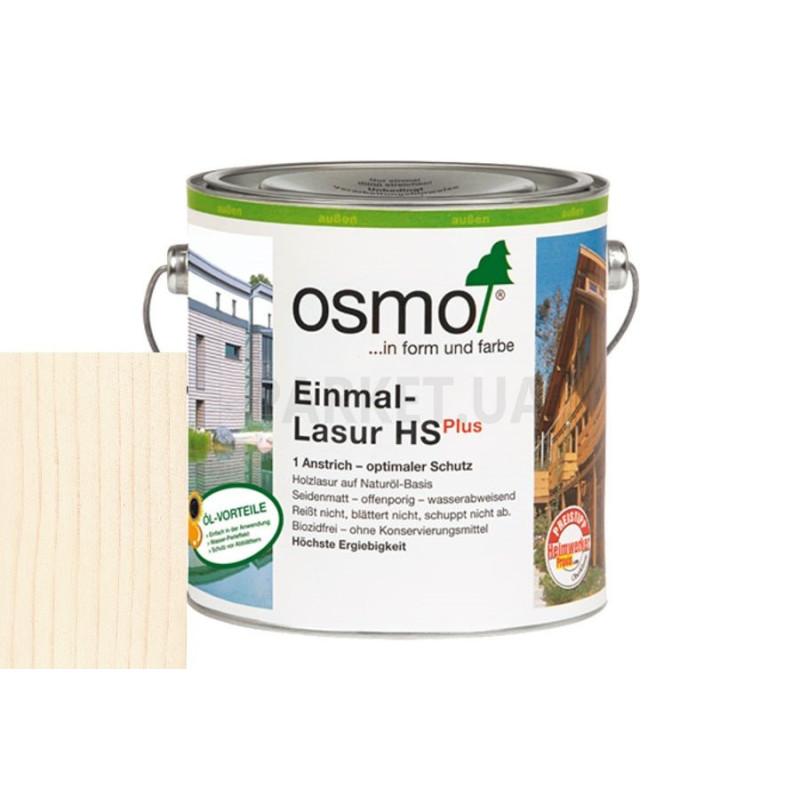 Однослойная лазурь Einmal-lasur HS белая ель
