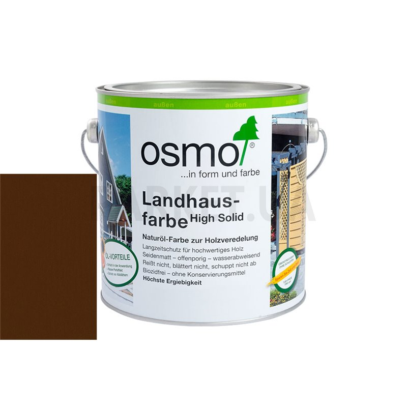 Непрозрачная краска Landhausfarbe темно-коричневая