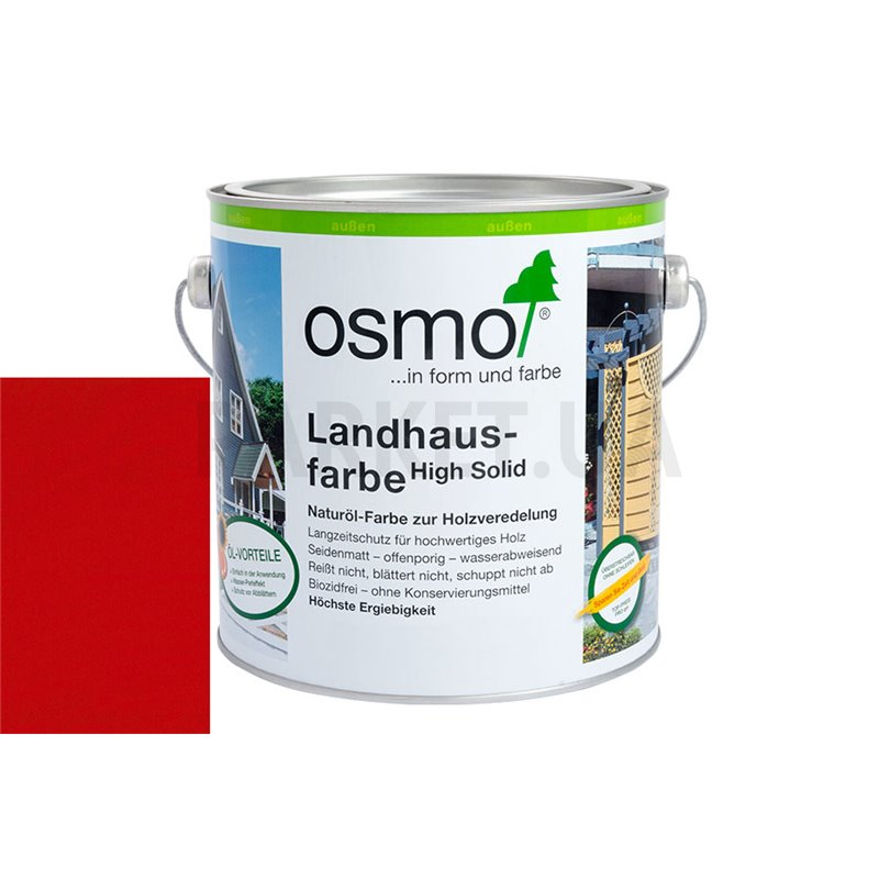Непрозрачная краска Landhausfarbe красно-коричневая