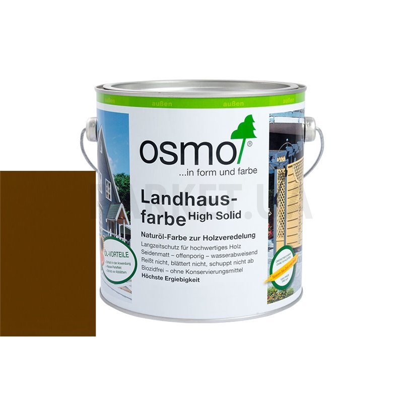 Непрозрачная краска Landhausfarbe коричневая