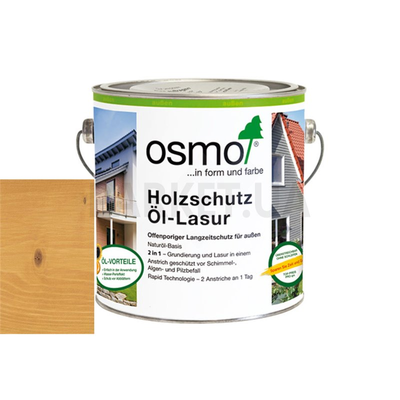Защитное масло-лазурь Holzschutz ol-lasur сосна орегон