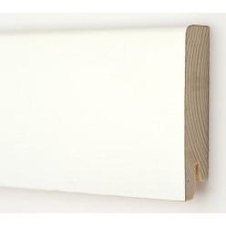 Плинтус шпонированный  Дуб белый Модерн 2400 х 80 х 18