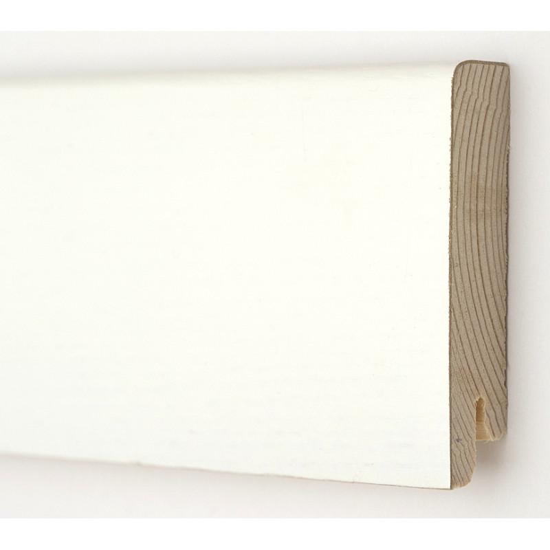 Дуб белый Модерн 2400 х 80 х 18  плинтус шпонированный натуральный