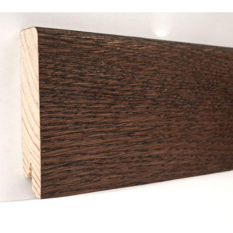 Дуб Какао Модерн 2400 х 80 х 18 плинтус шпонированный натуральный