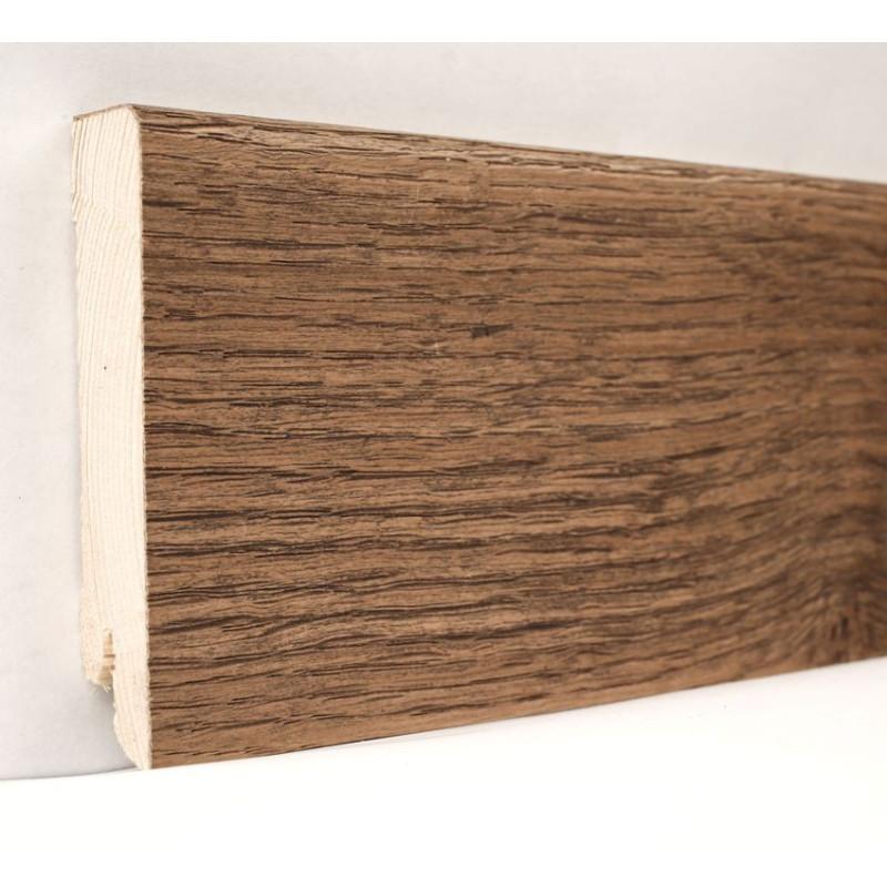Дуб Мокка Модерн 2400 х 80 х 18 плинтус шпонированный натуральный