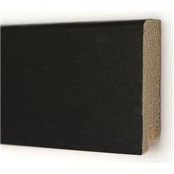 Плинтус шпонированный Дуб Черный Модерн 2400 х 80 х 14