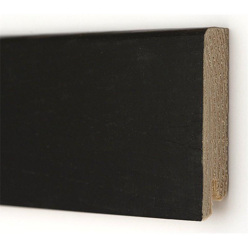 Дуб Черный Модерн 2400 х 80 х 18  плинтус шпонированный натуральный