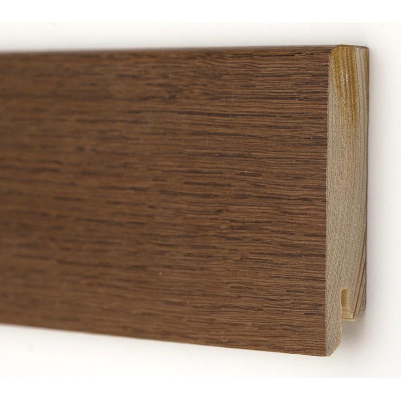 Дуб Браун Модерн 2400 х 80 х 18  плинтус шпонированный натуральный