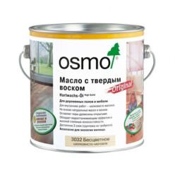 Масло с твердым воском Hartwachs-Öl Original (0,125/0,375/,75/2,5/25 л) Бесцветное шелковисто-матовое OSMO 3032
