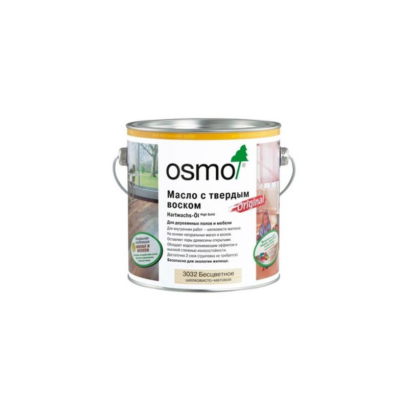Масло с твердым воском Hartwachs-Öl Original (2,5 л) Бесцветное шелковисто-матовое масло OSMO 3032