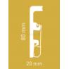 Плинтус Integra Дуб Кальвадос 2400 х 80 х 20 мм