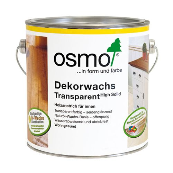 Масло Osmo серо-голубое Dekorwachs Transparent 0,125/0,75/2,5/25 л