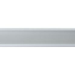 Плинтус пластиковый серебрянный 2500 х 56 х 20