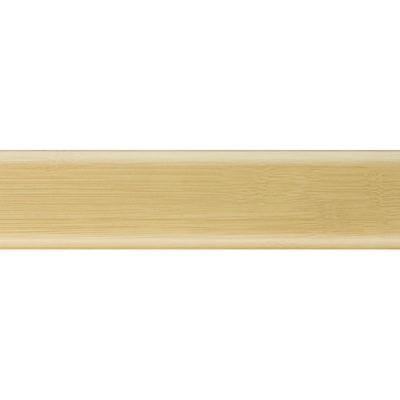 Плинтус пластиковый бамбук светлый 2500 х 56 х 20