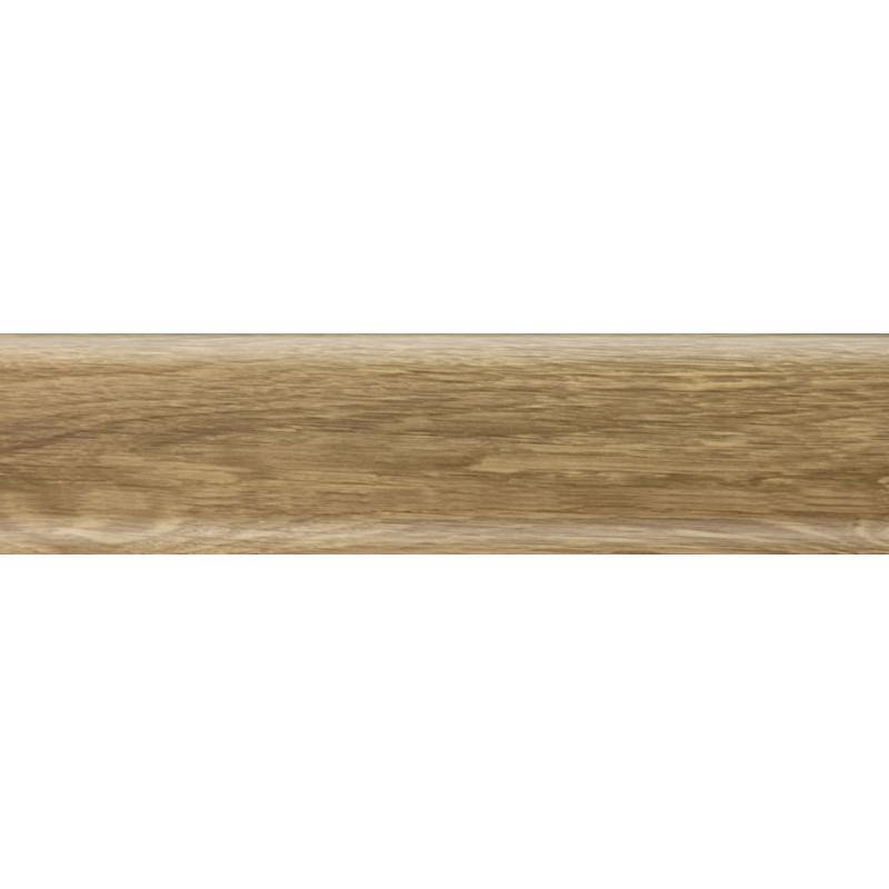 Плинтус пластиковый дуб бурбон натуральный 2500 х 56 х 20