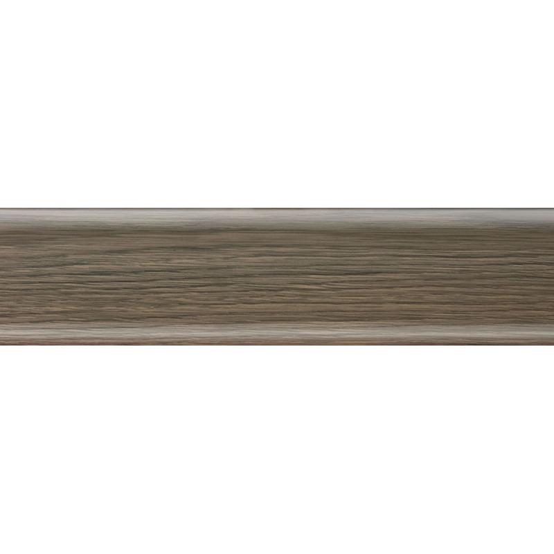 Плинтус пластиковый дуб бурбон темный 2500 х 56 х 20