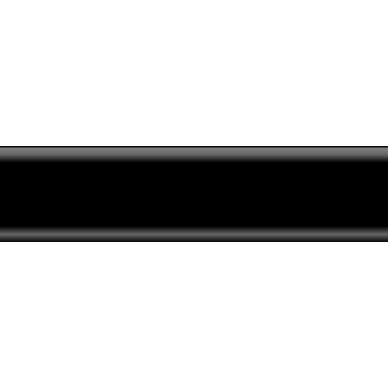 Плинтус пластиковый черный 2500 х 56 х 20