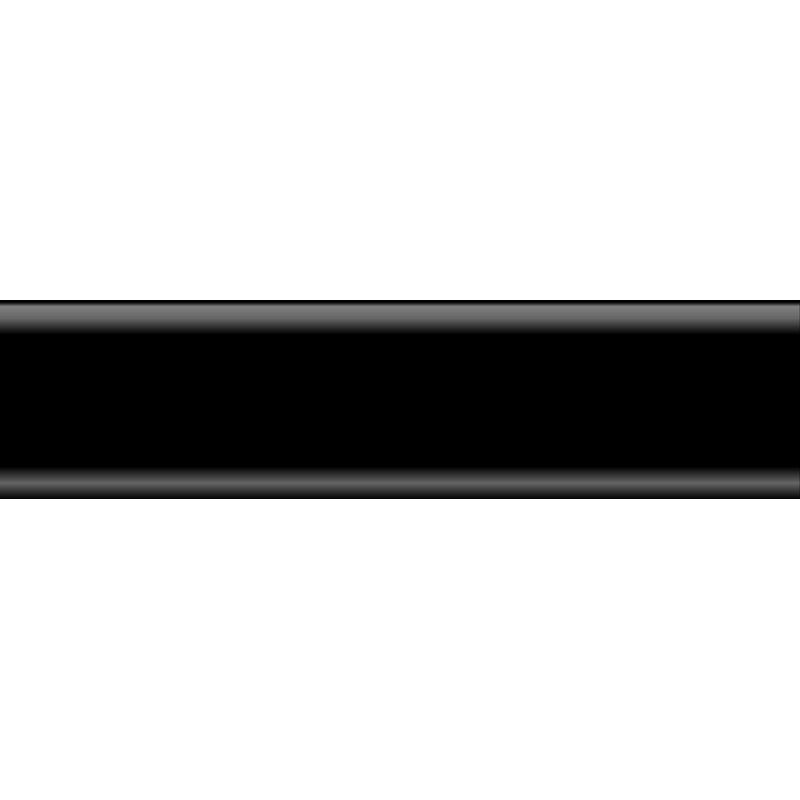 Плинтус пластиковый черный 2500 х 80 х 20