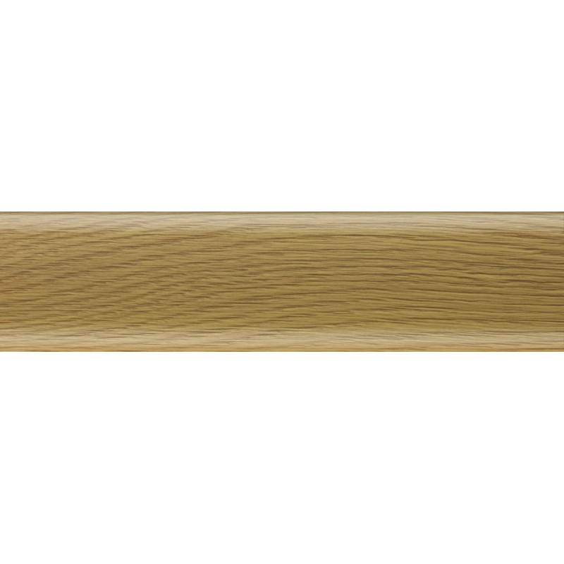 Плинтус пластиковый дуб темный 2500 х 70 х 22