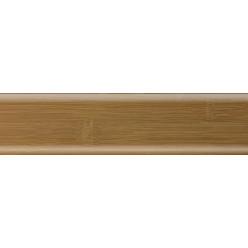 Плинтус пластиковый бамбук карамель 2500 х 70 х 22