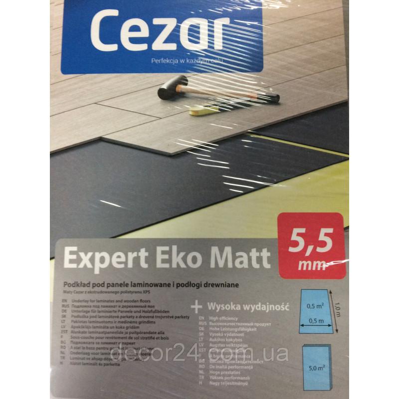 Подложка Cezar 5,5 мм, листовая длина 1 м ширина 0,5 м