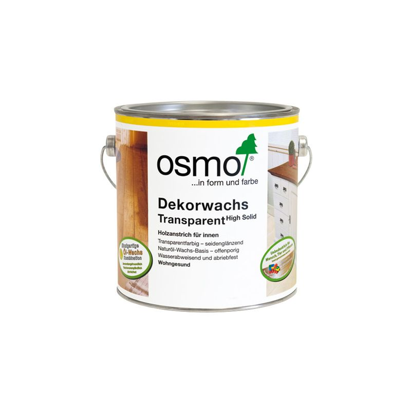 Масло Osmo серый гранит Dekorwachs Transparent 0,125/0,75/2,5/25 л