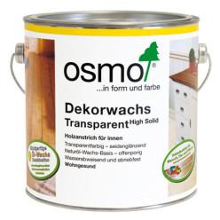 Масло Osmo шелковисто серое Dekorwachs Transparent 0,125/0,75/2,5/25 л