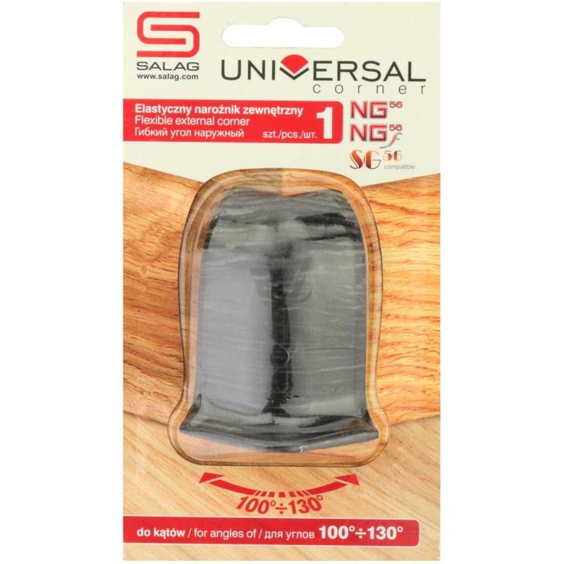 Универсальный угол наружный к плинтусу Salag Sg56 в ассортименте
